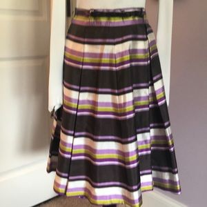 Kate Spade-Silk Skirt with Bow Belt